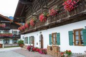 Travel photography:Traditional bavarian house in Garmisch, Germany