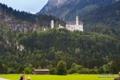 Travel photography:View of Neuschwanstein castle on an overcast day, Germany