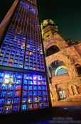 Travel photography:Berlin Gedächtniskirche close-up (remembrance church), Germany