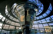 Travel photography:The glass cupola on top of the Reichstag, Germany
