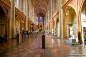 Travel photography:Inside the church in the Französische Strasse, Germany