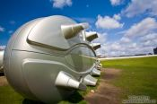 Travel photography:Giant football boots near the Hauptbahnhof, Germany
