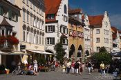 Travel photography:The Maximilianstrasse in Lindau , Germany
