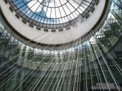 Travel photography:Glass cupola in the Frankfurt Schirn Museum, Germany