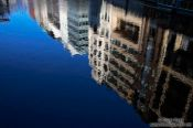 Travel photography:Reflections of houses in Neustadt, Germany