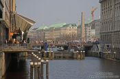 Travel photography:View of the Jungfernstieg in Hamburg, Germany