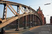 Travel photography:Bridge in Hamburg`s old Speicherstadt, Germany