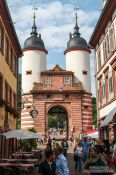 Travel photography:Old bridge city gate in Heidelberg, Germany