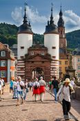 Travel photography:The Old bridge with city gate in Heidelberg, Germany