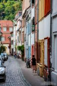 Travel photography:Houses in Heidelberg´s old town, Germany