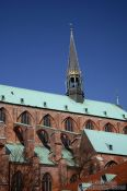 Travel photography:Posterior part of St. Mary´s church (Marienkirche) in Lübeck, Germany