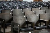 Travel photography:Rows of chairs in Lübeck´s St. Mary´s church (Marienkirche), Germany