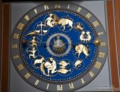 Travel photography:Astronomical clock in the Marienkirche in Lübeck (St. Mary`s Church), Germany