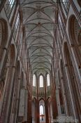Travel photography:Interior of the Marienkirche in Lübeck (St. Mary`s church), Germany
