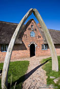 Travel photography:Whalebone entrance to an old Frisian house, Germany