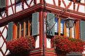 Travel photography:Facade detail in Gengenbach , Germany