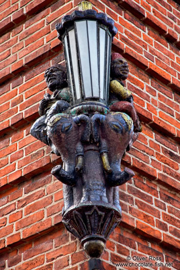 Old street light in Plön