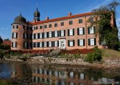 Travel photography:View of Eutin castle with moat, Germany
