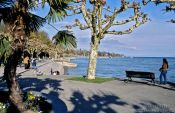 Travel photography:Promenade at the lake in Constance (Konstanz), Germany
