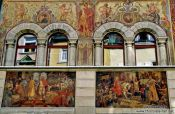 Travel photography:Painted facade in Constance (Konstanz), Germany