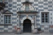 Travel photography:Entrance to the Haus zum Stockfisch in Erfurt, Germany