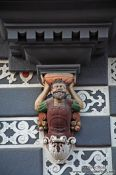 Travel photography:Facade detail on the Haus zum Stockfisch in Erfurt, Germany