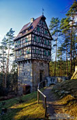 Travel photography:The Herzogstuhl near the Rieseneck hunting grounds, Germany