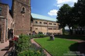 Travel photography:Courtyard of the Wartburg Castle, Germany