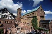Travel photography:View of the Wartburg from the south tower, Germany