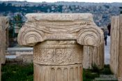 Travel photography:Column fragment on the Athens Akropolis, Greece