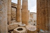 Travel photography:Columns at the entrance to the Athens Akropolis, Greece