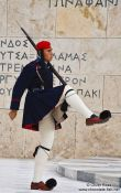 Travel photography:Guard at the Monument of the Unknown Soldier in Athens - Tsolias, Greece
