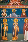 Travel photography:Paintings inside the Garazo church, Grece