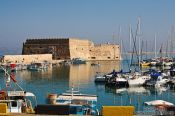 Travel photography:Fortress Koules (Rocca al Mare) in Iraklio (Heraklion) harbour, Grece
