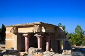 Travel photography:Reconstructions at Knossos archeological site, Grece
