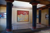 "Travel photography:Frescos in the ""Palace of Minos"" at Knossos, Grece"