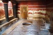 Travel photography:The Throne Room in Knossos, Grece