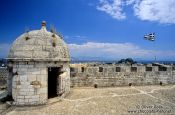 Travel photography:Walls of the New Venetian Fortress in Corfu, Greece