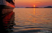 Travel photography:Sunset over Igoumenitsa harbour, Greece
