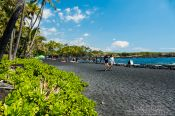 Travel photography:Black Sand Beach on Hawaii, Hawaii USA
