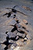 Travel photography:Cracked lava in Volcano National Park, Hawaii USA