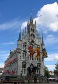 Travel photography:The City Hall in Gouda, Holland (The Netherlands)