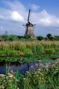 Travel photography:Windmill at the Kinderdijk, Holland (The Netherlands)