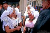 Travel photography:Men and women in traditional dress at a festival in Vlissingen, Holland (The Netherlands)