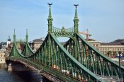 Travel photography:The Freedom Bridge in Budapest, Hungary