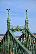 Travel photography:Freedom Bridge detail, Hungary