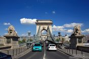Travel photography:The Chain Bridge in Budapest, Hungary