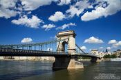 Travel photography:The Chain Bridge in Budapest over the Danube, Hungary