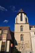 Travel photography:Mixed architecture belltower in Budapest castle, Hungary