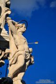 Travel photography:Budapest castle Trinity column detail, Hungary